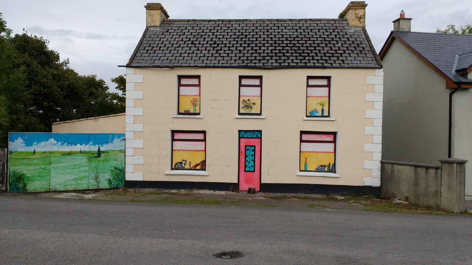 boarded up house, irish style